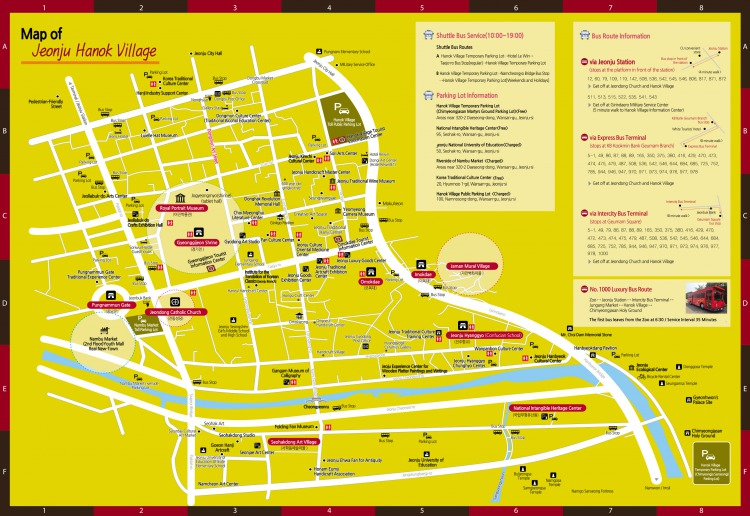 Jeonju Hanok Village English Guide Map Jeonju